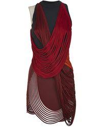 Stella McCartney Fringed Mini Dress - Lyst
