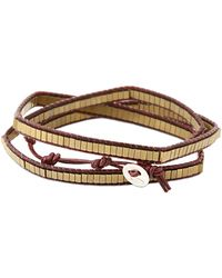 Colana - Leather Wrap Bracelet W/ Bronze Hematite - Lyst