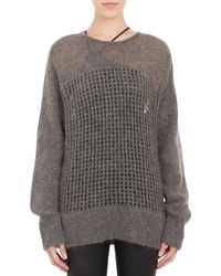 Helmut Lang Oversize Honeycomb Mesh Sweater - Lyst