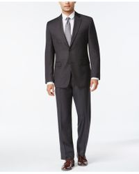 Izod - Charcoal Birdseye Classic-fit Suit - Lyst