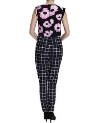 Frankie Morello - Poppy And Geometric Printed Jumpsuit Dress - Lyst