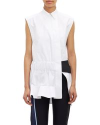 Paco Rabanne Technical Poplin Tunic white - Lyst