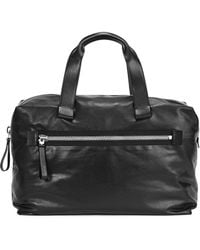Lanvin - Black Leather Holdall - Lyst