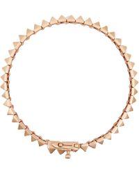 Eddie Borgo - Rose Goldplated Pyramid Tennis Bracelet - Lyst