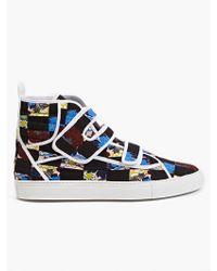 Raf Simons Men'S Graphic Printed Hi-Top Sneakers multicolor - Lyst