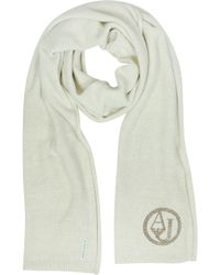 Armani Jeans - Crystals Wool Blend Long Scarf - Lyst