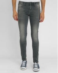 Jack & Jones Faded Grey Slim-fit Jeans gray - Lyst