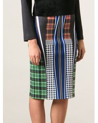 Clover Canyon All Over Print Stretch Skirt - Lyst