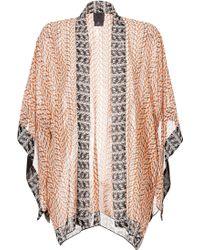 Anna Sui | Silk Printed Open Front Kimono - Multicolor | Lyst