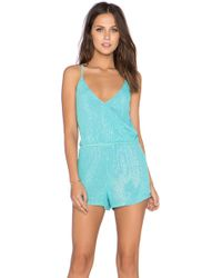 MLV - Brooklyn Beaded Romper - Lyst