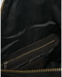 SELECTED - Leather Fringed Across Body Bag - Lyst