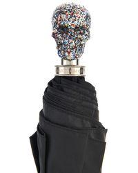 Alexander McQueen Skull-Handle Collapsible Umbrella - Lyst