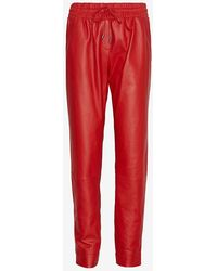 Ohne Titel - Leather Track Pant: Red - Lyst