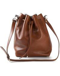Proenza Schouler Drawstring Calf-Leather Bucket Bag - Lyst