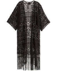 H&M   Fringed Lace Kimono   Lyst