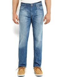 DKNY Medium Wash Soho Relaxed Straight Leg Jeans - Lyst