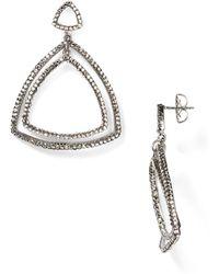 Roni Blanshay - Crystal Open Triangle Earrings - Lyst