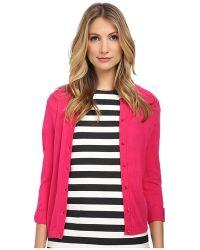 Kate Spade Somerset Cardigan pink - Lyst