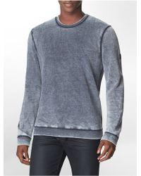 Calvin Klein Jeans Slim Fit Burnout Cotton Blend Fleece Sweatshirt - Lyst