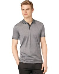 Calvin Klein Slim Fit Double Mercerized Polo Shirt - Lyst