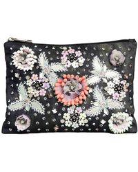 Asos Floral Embellished Clutch Bag - Lyst