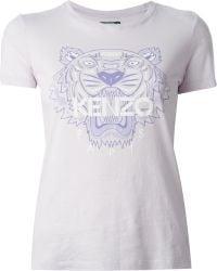 Kenzo Purple 'Tier' T-Shirt - Lyst