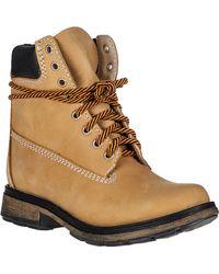 Steve Madden Pasa Ankle Boot Wheat Nubuck orange - Lyst