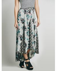 Free People Show You Off Maxi Skirt green - Lyst