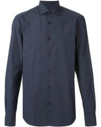 Z Zegna Fitted All Over Print Shirt - Lyst