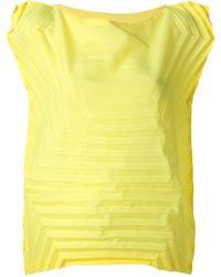 Issey Miyake Cauliflower Pleated Short-Sleeve Sweater - Lyst