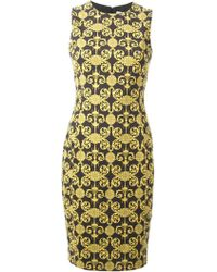 Versace Printed Pencil Dress - Lyst