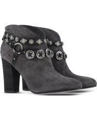 Belle By Sigerson Morrison | Embellished Suede Ankle Boots | Lyst