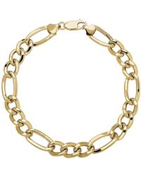 Lord & Taylor - 14k Yellow Gold Mens Link Bracelet - Lyst
