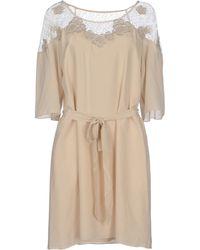 Alice By Temperley Short Dress beige - Lyst