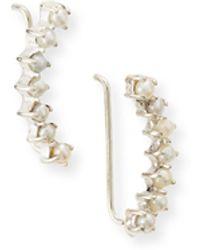 Jennifer Zeuner Sylvia 7-Pearl Mini Ear Cuffs white - Lyst