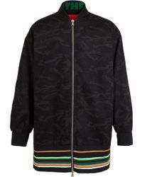 Raf Simons Sterling Ruby Camouflage Bomber Jacket - Lyst