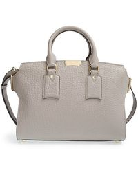 Burberry 'Medium Gainsborough' Signature Grain Leather Tote - Lyst