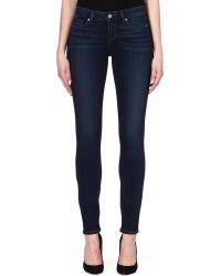 Paige Skyline Skinny Midrise Jeans Nottingham - Lyst