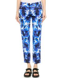 Milly Floral Mirage Nicole Pants - Blue - Lyst