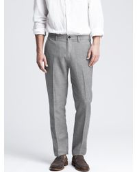 Banana Republic Kentfield Slim Linen Cotton Pant - Lyst