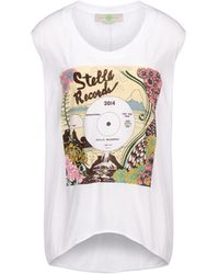 Stella McCartney White Stella Records Print T-Shirt - Lyst