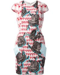 Peter Pilotto Volt Embroidered Bouclã©-Tweed Dress - Lyst