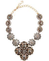 Oscar de la Renta Radial Swarovski Crystal Necklace - Lyst