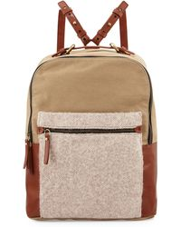 Kelsi Dagger Brooklyn - Southside Leather-trim Canvas Backpack - Lyst