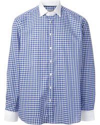 Etro Gingham Print Shirt - Lyst