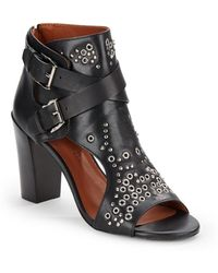 Rebecca Minkoff Salma Cutout Grommet Ankle Boots - Lyst