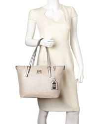 Anne Klein - Natural & Silver Perfect Tote - Lyst