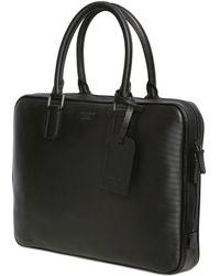Giorgio Armani Pringle Embossed Leather Briefcase - Lyst