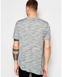 ASOS - Super Longline T-shirt In Space Dye With Asymmetric Hem - Lyst