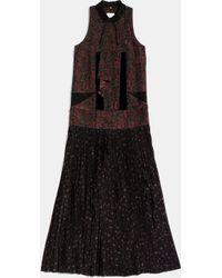 COACH | Long Military Dress | Lyst